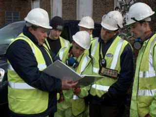 Health and safety briefing with all site operatives prior to emergency works commencing