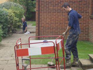 Engineers cleaned areas to a high standard